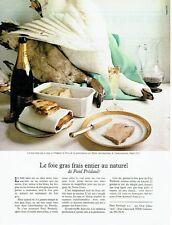 Publicité Advertising 057  1978  le foie gras frais Paul Prédault