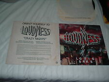 LOUDNESS Lightning Strikes + Crazy Nights 2LP lot US/JAP power metal ORIG US pr