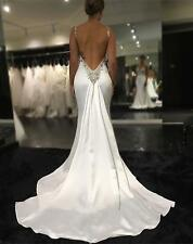 New Mermaid Wedding Dress Bridal Gown Custom size 4 6.8.10.12.14.16.18++