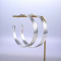 Huge fashion 925 Silver,Gold,Rose Gold Hoop Earring for Women Jewelry A Pair/set
