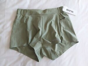 Skins - Ladies Nora Run Shorts - BNWT - Small -RRP £40 - Olive Green