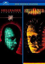 NEW DVD - HELLRAISER BLOODLINE + HELLRAISER INFERNO - HORROR  - Doug Bradley,