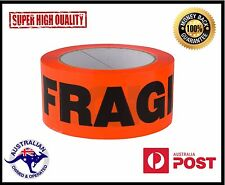 Fragile Sticky Packing Tape 24 x  Rolls 75m x 48mm 50 Micron- SAME DAY POSTAGE