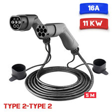 EV Mode 2 Charging Cable Electric Car Charger 3Phase 16A Plug Type 2 5M Citroen