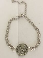 Denarius Of Tiberius Coin WC60 Fine English Pewter on a Anklet / Bracelet