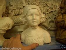 Buste jeune fille femme en plâtre teinté ref 2076