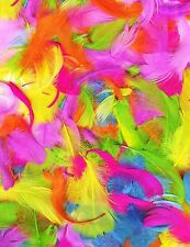 LARGE 20g BAG 100+ MIX ASSORTED COLOURED FEATHERS EASTER BONNET CRAFT DECORATION