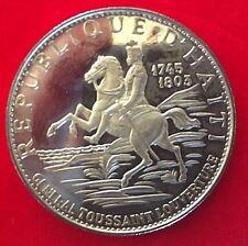 HAITI 10 GOURDES SILVER COIN 1970 IC
