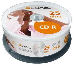 100 Xlyne Rohlinge CD-R 80Min 700MB 52x Spindel SONDERPOSTEN