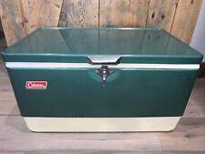 Vtg Green Metal Coleman 50 Quart SNOW-LITE Cooler Ice Box Chest Insert Steel