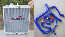 3ROW for Honda Civic EK EG B16 B18 92-00 32MM aluminum radiator&Silicone Hose