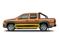 "New Genuine VW AMAROK (2013-2017) Set Of N/S Left Doors ""CANYON"" Trim Foil OEM"