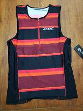 NEW Zoot Mens L Tri Tank Performance Top Red Compression Triathlon Shirt Large