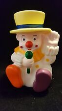 Clown squeeze doll with microphone