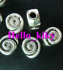 60 Pcs Tibetan silver chunky spiral spacers A1173