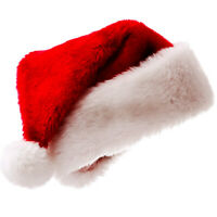 US Christmas Adults Santa Hat Home Warm Plush Xmas Elastic Cosplay Costume Hats