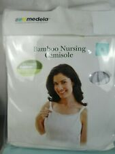 BN Medela White bamboo Ultra Soft Nursing Camisole Vest Top XL fit 38E to 40F