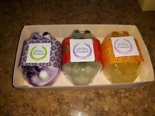 Handmade Loofah Glycerin 3pack Massage  Soap Bars