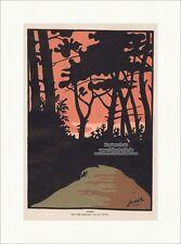 Abend Jugendstil Landschaft von Jossot Paris Sonnenuntergang Sunset Jugend 1147