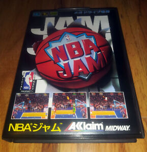 NBA Jam [JP MegaDrive] with Box, Manual