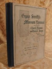1898 Gipsy Smith's Mission Hymnal Collection of Sacred Songs Christian Book RARE