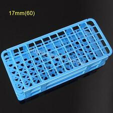 60-Hole 17mm 3 Layers Medical Plastic Lab Test Tube Rack Holder Storage Stand A+