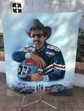 "Original Richard Petty Acrylic Painting By Jeanne Barnes- ""Start To Finish"""