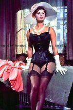 "Sophia Loren 4""x6"" funny big hat girdle leggy busty movie picture 4""x6"" photo f"