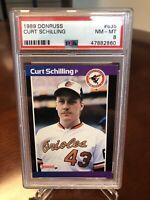 Curt Schilling 1989 Donruss PSA 8 Rookie Card #635 RC VARIATION SEE DESCRIPTION!