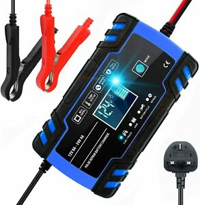 8Amps Smart Automatic Car Battery Charger 12V 24V Starter Pulse Repair AGM/GEL