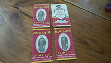 4 Pkgs Advertising Vintage Tobacco Cigarette Papers B&W, Prince Albert