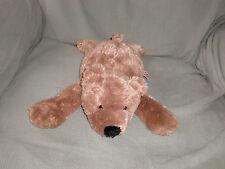 NICI STUFFED PLUSH TEDDY BEAR BROWN TAN FLUFFY FURRY SOFT SHAGGY CUDDLY BEANS