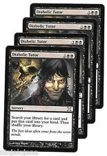 4 DIABOLIC TUTOR X Edition (10th)  Tutor Diabolico x4 MTG Ingles NM