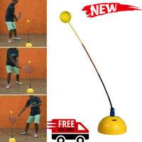 Portable Tennis Training Practice Trainer Swing Tool Machine Ball