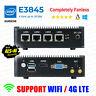 Intel Atom® E3845 4 LAN 3G/4G Barebone Fanless pfSense Firewall AES-NI