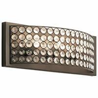 Kichler Krystal Ice 3-Light 17.8-in Olde Bronze Rectangle Vanity Light 759887