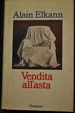 Alain Elkann, VENDITA ALL'ASTA, Bompiani, I Edizione 1993.