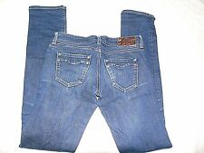 REPLAY (BLONDY) BLUE STONEWASHED SLIM STRECTH JEANS W27 L34