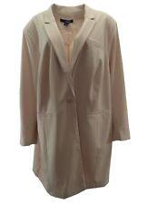 6d1542f85280a Denim 24 7 Womens Blazer Plus 30W Pink Stretch Suit Jacket Pockets Lined  Career