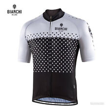 NEW Bianchi Milano QUIRRA Short Sleeve Cycling Jersey : WHITE