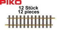 PIKO G 35200-s Straight Track G320, Length 321,54 MM (12 Pieces