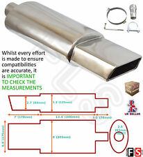 UNIVERSAL PERFORMANCE T304 STAINLESS STEEL EXHAUST BACKBOX YFX-0734-BMW 2