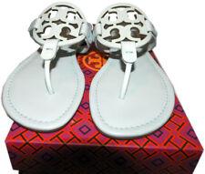 Tory Burch Miller Thongs Seltzer Leather Shoes Flip Flop 10 Slides Mules Sandals