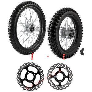 "19"" & 16"" Dirt Pit Bike Front Rear Wheel Set 70/100-19 90/100-16 Tire Rim CRF100"