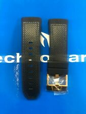 TechnoMarine Black Canvas Strap with Gold Buckle 45mm Original System