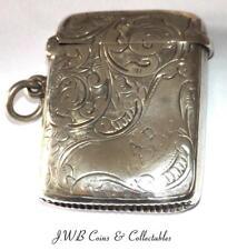 Antique Silver Edwardian Vesta Case Hallmarked Birmingham 1905