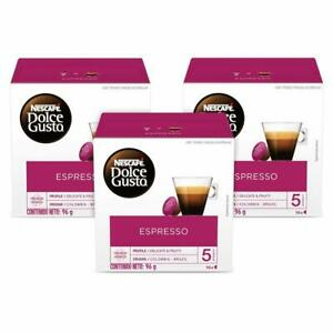 NESCAFÉ Dolce Gusto Coffee Capsules Espresso 48 Single Serve Pods, Makes 48 Cups