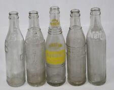 Lot of 5 Vintage Soda Pop Glass Bottles - Big Bill, Big Boy, NuGrape, 2 Nehi