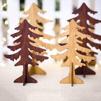 AU_ KE_ AU_ ALS_ Wooden Christmas Tree Shape Hanging Pendant Ornament Home Decor