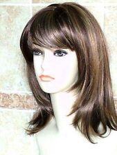 351 New medium brown blonde fashion Wig